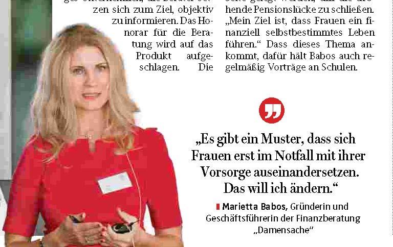 OÖNachrichten-Artikel zum Thema Frauen & Geld! 1