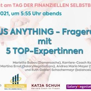 Ask us anything - Big 5 Fragerunde am Tag der finanziellen Selbstbestimmung für Frauen 2
