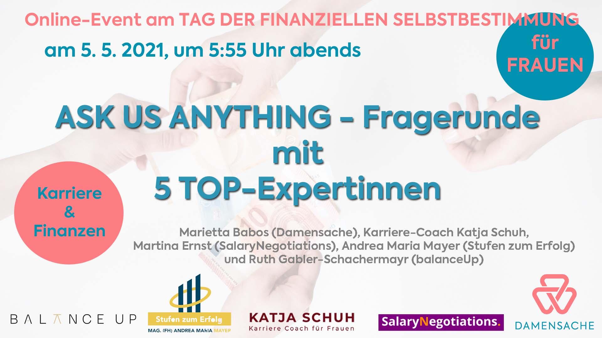 Ask us anything - Big 5 Fragerunde am Tag der finanziellen Selbstbestimmung für Frauen 7